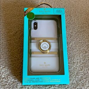 Kate Spade ring stand and case for iPhone XS/X